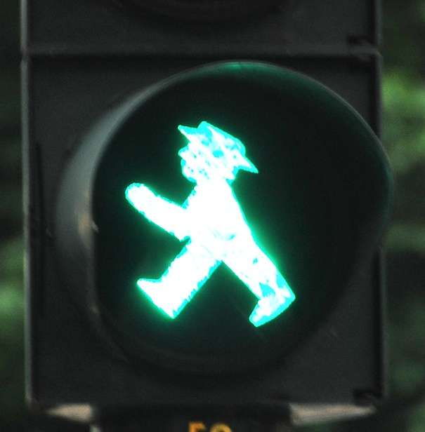 Funny Traffic Signs Pedestrian Lights In Berlin Germany