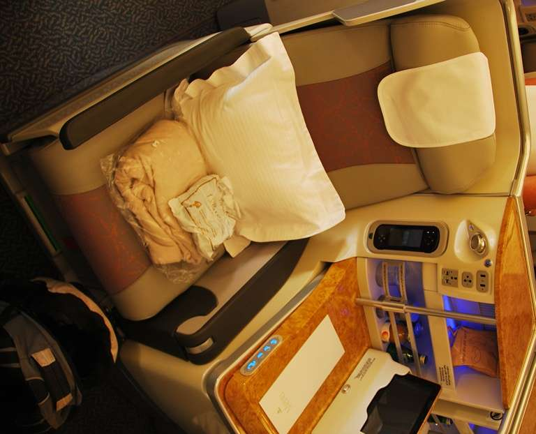 Emirates A380 Business Class Seats