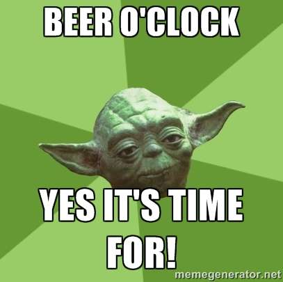 Yoda Beer O'clock Meme