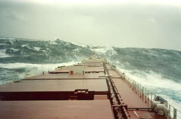 Shipping Containers - Rough Seas