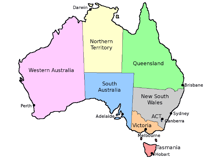 Australia Map Capitals.Map Of Australia States And Capitals Afp Cv